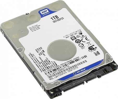 "Жесткий диск HDD, 2.5"", 1 Тб, SATA III, Western Digital, WD Blue, 128 Мб, 5400 rpm, WD10SPZX"